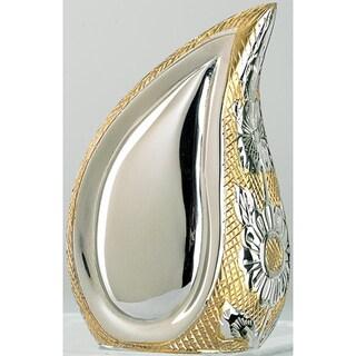 Teardrop of Love Two-tone Brass Keepsake Urn