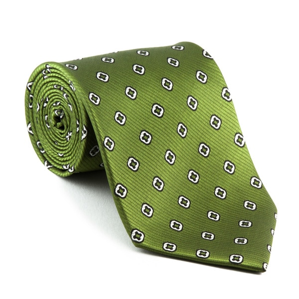 Platinum Ties Men's Patterned 'Green Clover' Tie