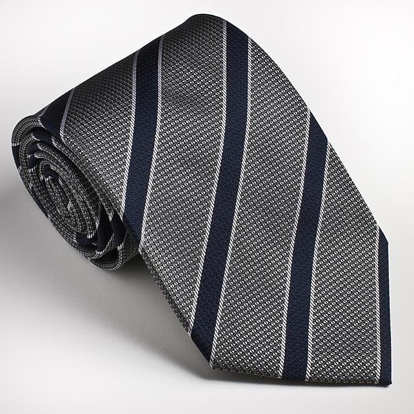 Platinum Ties Men's Striped 'Gray Cop' Tie