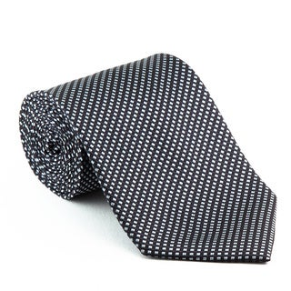 Platinum Ties Men's Patterned Black 'Midnight Runner' Tie