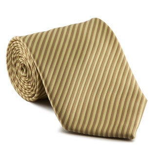 Platinum Ties Men's Striped 'Tan Cookie' Tie
