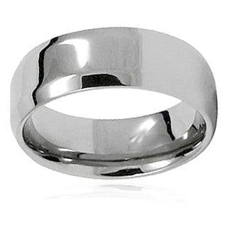 Men's Titanium Beveled Edge High Polish Band (8 mm)