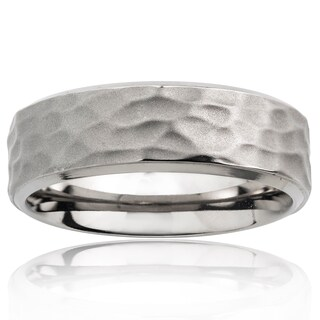 Men's Titanium Hammered Ring (4 options available)