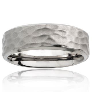 Men's Titanium Hammered Ring|https://ak1.ostkcdn.com/images/products/5603130/P13365634.jpg?impolicy=medium