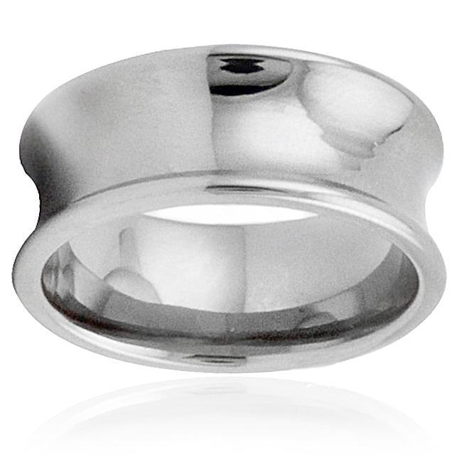 Men's Titanium Concave Ring