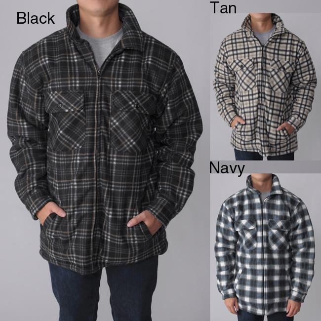 Gioberti by Boston Traveler Men's Plaid Fleece Jacket - Free ...