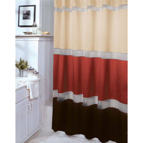Shop Marin Terracotta And Brown Shower Curtain