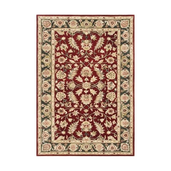 Alliyah Handmade Red New Zealand Blend Wool Rug (10' x 14') - 10' x 14'
