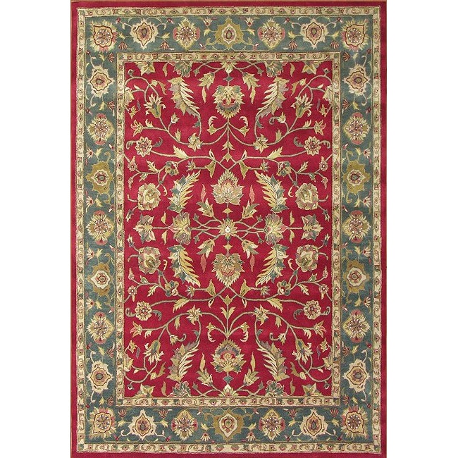 Alliyah Handmade Red New Zealand Blend Wool Rug (6' x 9')