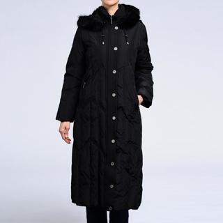 Women's Down Faux Fur Trim Hooded Coat