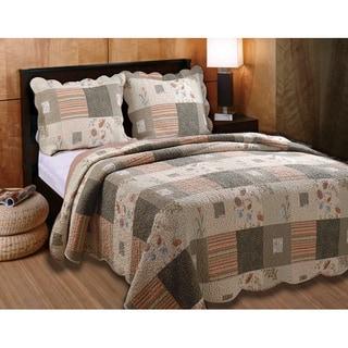 Greenland Home Fashions Sedona 3-Piece Quilt Set