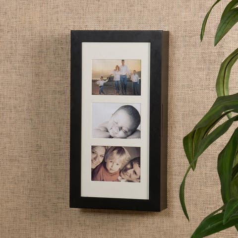 Harper Blvd Alto Photo Display Wall-mount Black Jewelry Armoire
