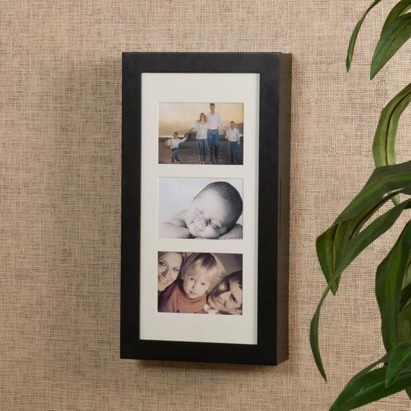 Harper Blvd Alto Photo Display Wall-mount Black Jewelry Armoire