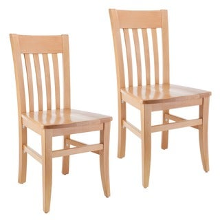 natural wood dining chairs unfinished wood jacob natural wood dining chairs set of 2 shop riverdale classic on sale free