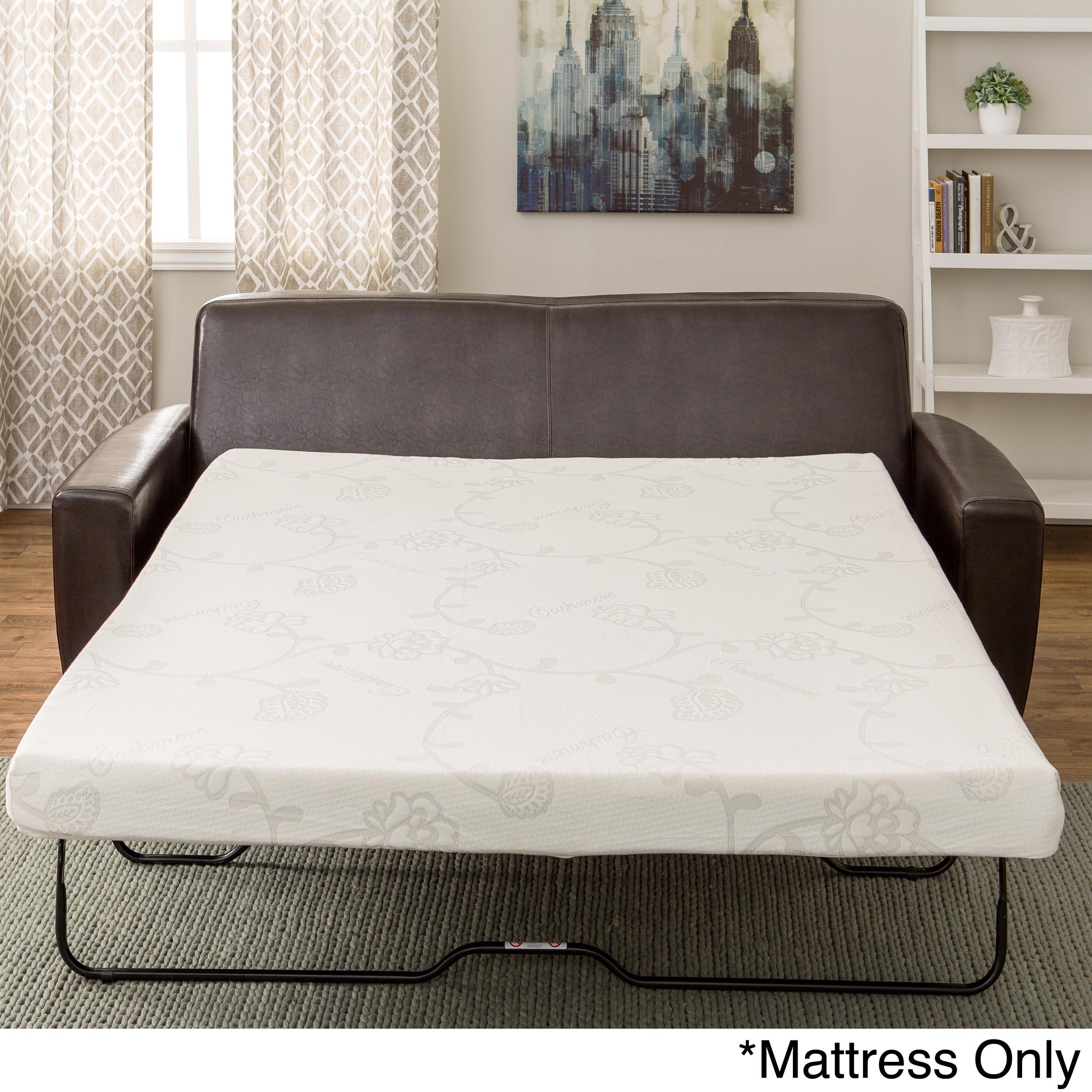 Innerspace 4.5-inch Memory Foam Full-size Sofa Sleeper Ma...