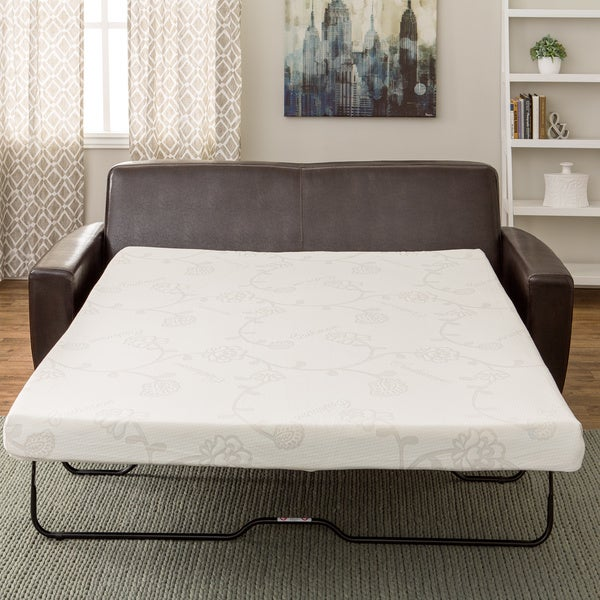 Merveilleux InnerSpace 4.5 Inch Memory Foam Full Size Sofa Sleeper Mattress