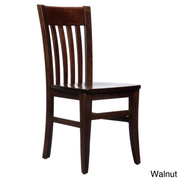 solid wood dining chairs set of 2 jacob mahogany wood dining chairs