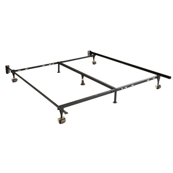 Adjustable Full Queen Bed Frame : Adjustable twin full queen steel bed frame with casters