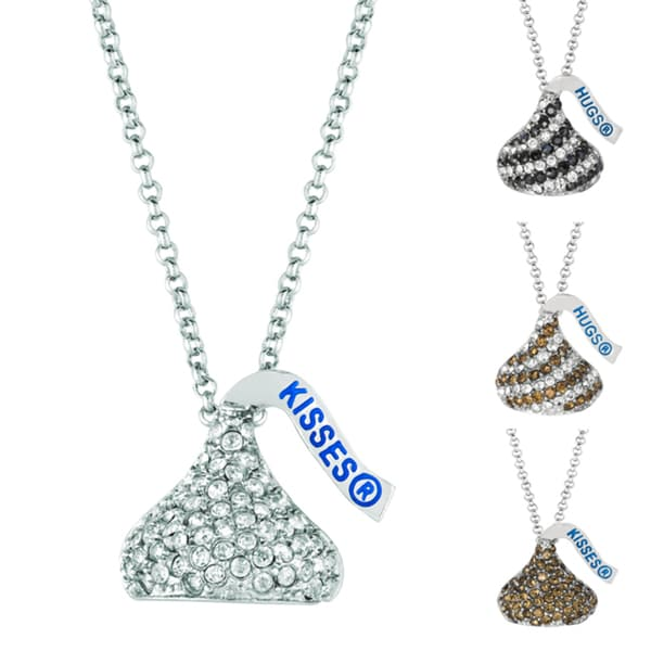 Metal and Crystal Hershey's Kiss Necklace. Opens flyout.