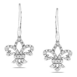 Sterling Silver 1/4ct TDW Diamond Leverback Earrings