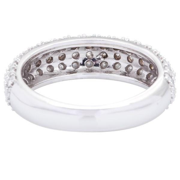 G-H,I2-I3 Size-6 Diamond Wedding Band in 10K White Gold 1//10 cttw,