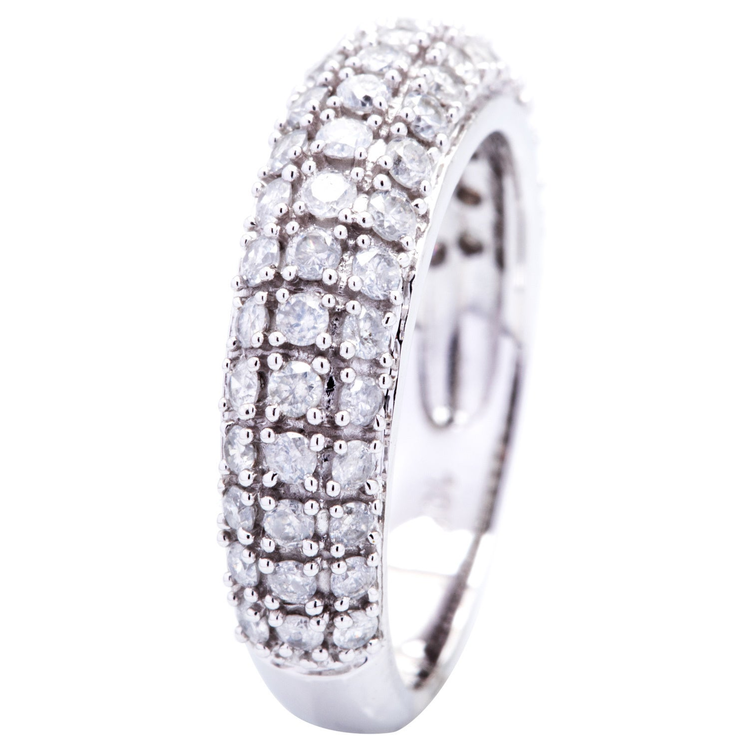 1//10 cttw, Size-3.25 G-H,I2-I3 Diamond Wedding Band in Sterling Silver