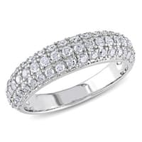 Miadora 3/4 CT  Diamond TW Fashion Ring  10k White Gold GH I2;I3