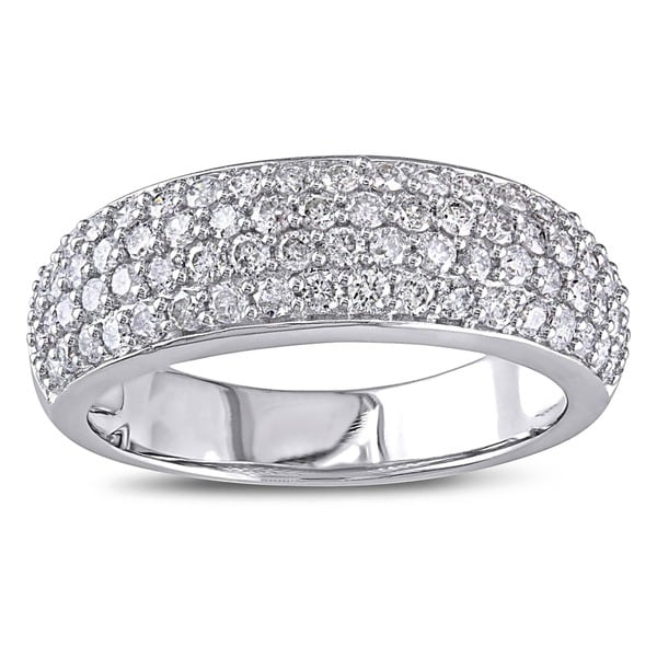 Miadora 10k White Gold 1ct TDW Pave Diamond Ring  (G-H, I2-I3)