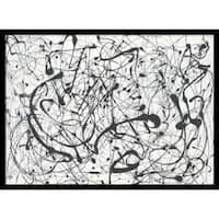Framed Art Print 'Number 14-Gray' by Jackson Pollock