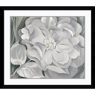 Framed Art Print 'The White Calico Flower, 1931' by Georgia O'Keeffe 39 x 34-inch