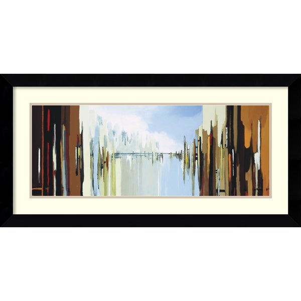 Framed Art Print 'Urban Abstract No. 242' by Gregory Lang 38 x 20-inch