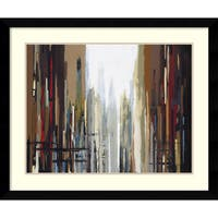 Framed Art Print 'Urban Abstract No. 159' by Gregory Lang 37 x 31-inch