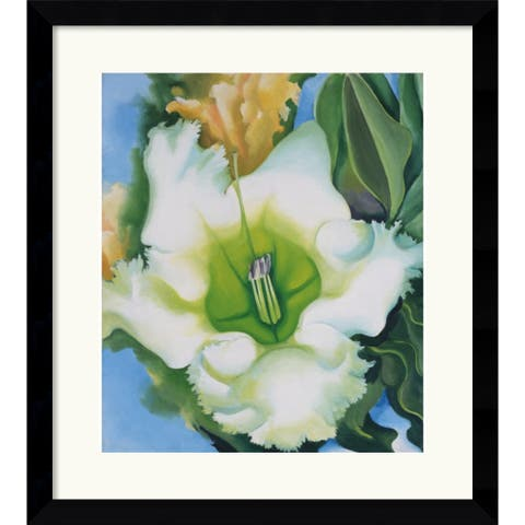 Framed Art Print 'Cup of Silver Ginger, 1939' by Georgia O'Keeffe 30 x 33-inch