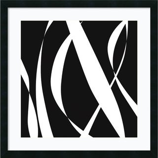 Denise Duplock 'Fistral Nero Blanco III' Framed Art Print