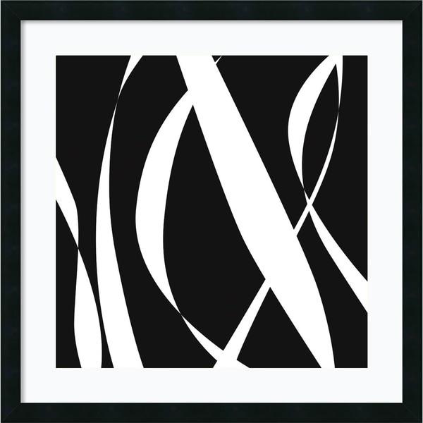 Framed Art Print 'Fistral Nero Blanco III' by Denise Duplock 26 x 26-inch