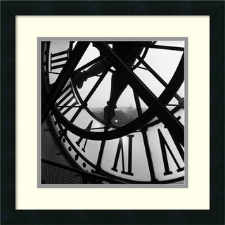 Tom Artin 'Orsay Clock' Framed Art Print