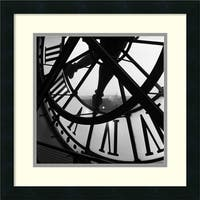 Framed Art Print 'Orsay Clock' by Tom Artin 18 x 18-inch
