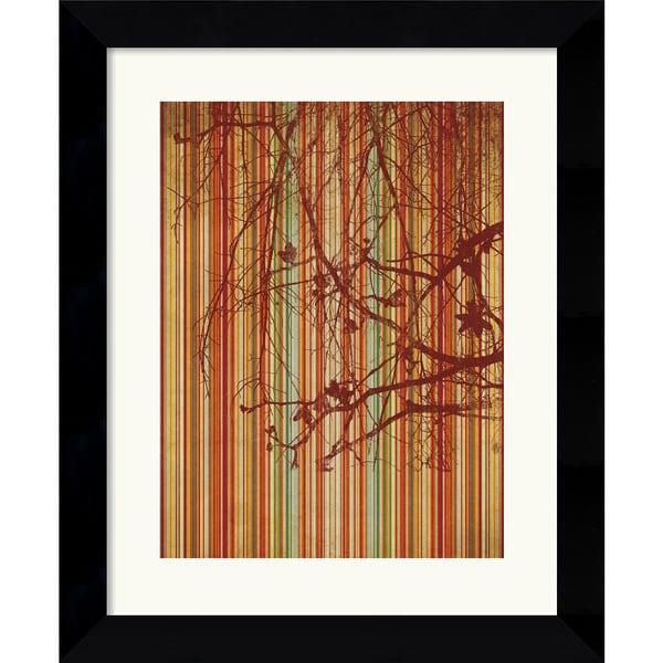 Erin Clark 'Amber Stripe' Framed Art Print