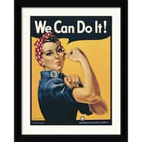 """Framed Art Print 'Rosie The Riveter (""""We Can Do It!"""")' by Howard Miller 25 x 31-inch"""