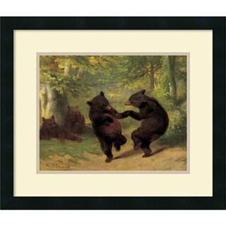 Framed Art Print 'Dancing Bears' by William Beard 21 x 18-inch