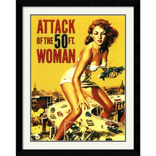 'Attack of the 50 ft. Woman' Framed Art Print