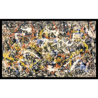 Framed Art Print 'Convergence' by Jackson Pollock 37 x 23-inch