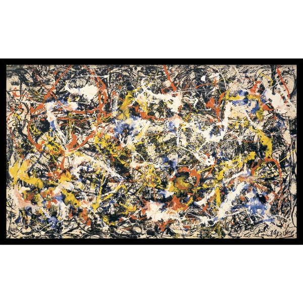 Framed Art Print 'Convergence' by Jackson Pollock 37 x 23-inch. Opens flyout.