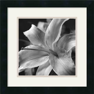Framed Art Print 'Pure Lily' by Gaetano Art Group 16 x 16-inch