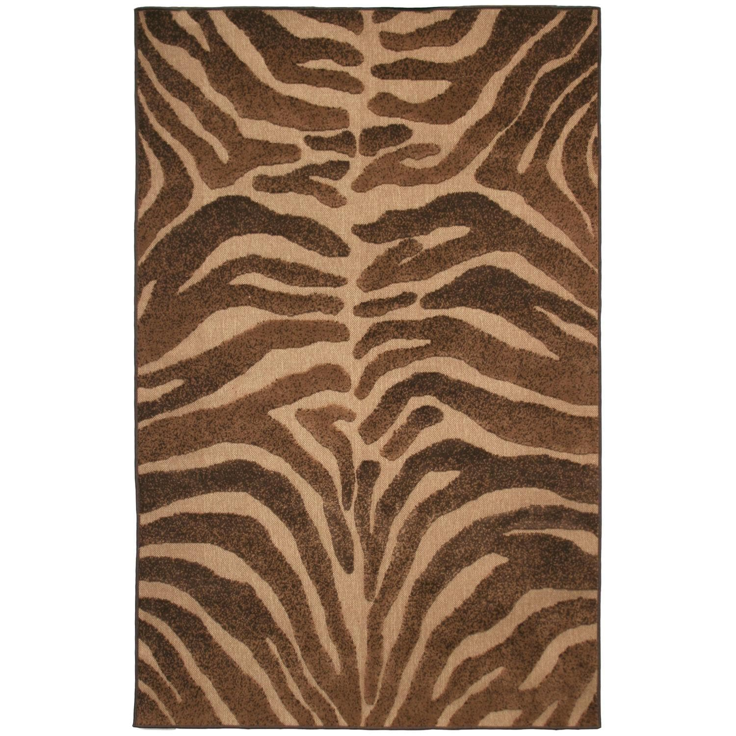 Beige/ Brown Indoor/ Outdoor Animal Rug (5' x 8')