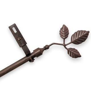 Adjustable Curtain Rod Set with Ivy Finial