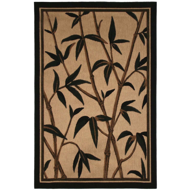 Olefin Beige Indoor/ Outdoor Floral Rug (8' x 10')