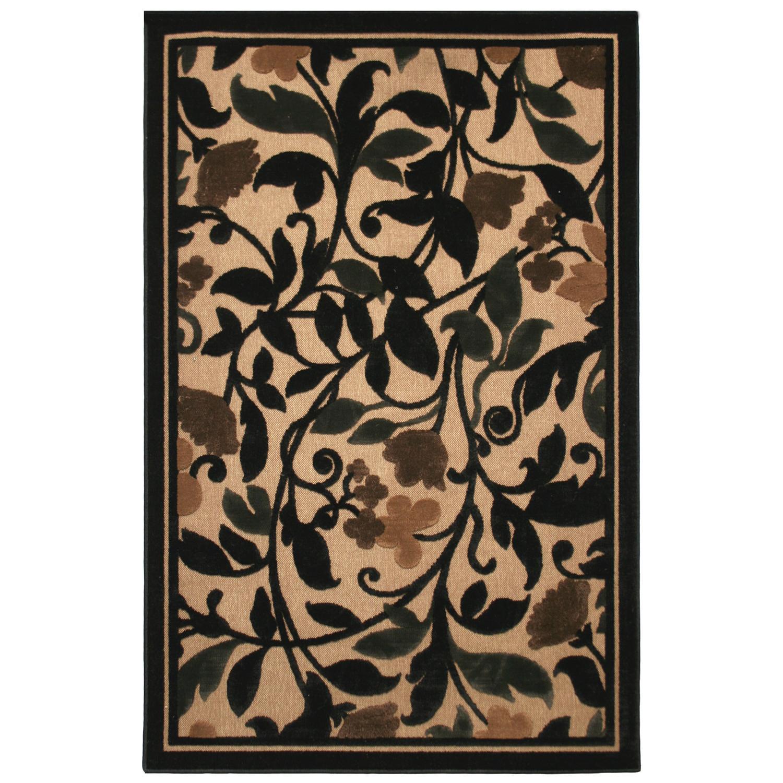 Transitional Beige Indoor/ Outdoor Floral Rug (8' x 10')