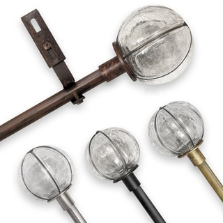 Pinnacle Adjustable Rod Sets with Cracked Glass Finial