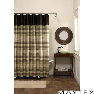 Maytex Blake Fabric Shower Curtain